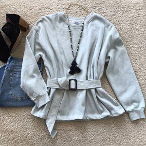 Zara Belted Sweatshirt